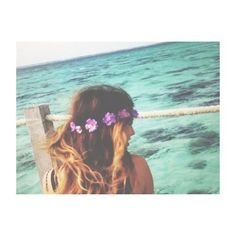flower crown and ocean are my life