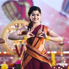 Pic Talk: Curvaceous Looks Of Rashmika Beautiful Girl Photo, Beautiful Girl Indian, Most Beautiful Indian Actress, Beautiful Saree, Wonderful Picture, Beauty Full Girl, Cute Beauty, South Actress, South Indian Actress