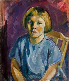 Tyko Sallinen Taju 1923 Finland, Art Gallery, Eye, Visual Arts, Children, Youth, Portraits, Paintings, Artists