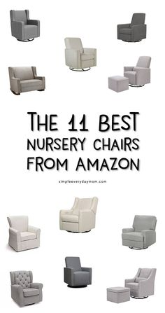 A nursery glider or nursery rocker for your baby is an absolute must-have. Check out this guide to the best nursery glider and rockers for any budget and taste! All these baby gliders are modern, affordable and perfect for the nursery!