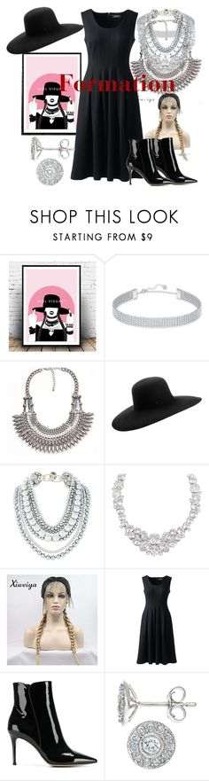 """""""Formation"""" by rihababy on Polyvore featuring Swarovski, Maison Michel, Henri Bendel, Lands' End and Gianvito Rossi"""