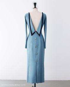 Para lucir espalda 1950s Fashion Women, Vintage Fashion, Vintage Dresses, Nice Dresses, Tuxedo Dress, Tent Dress, Mode Vintage, Classy Outfits, Curvy Fashion
