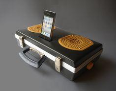 Portable Iphone Ipod Speaker Dock  Vintage by BoscaBosca