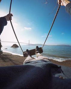 gopro: Photo of the Day: Swingin' Saturday. Action Photography, Adventure Photography, Gopro, Kirby Cove, Beach Cove, To Infinity And Beyond, Adventure Awaits, Golden Gate Bridge, Places To Go