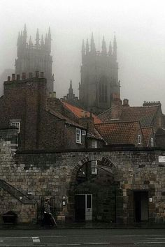 York, England - York Minster in the fog.
