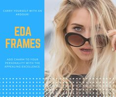 5be2b61409 A perfect blend of style and comfort with this pair of sunglasses from EDA  Frames is