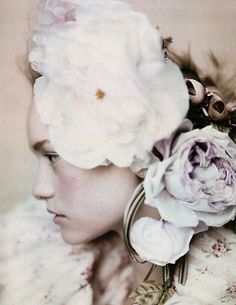 """Roses"" - Gemma Ward photographed by Paolo Roversi for Vogue UK March 2004"