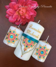 Henna Crafts frames candles boxes & by HennaCraftsbyPramila Eid Crafts, Ramadan Crafts, Ramadan Decorations, Diy Crafts To Sell, Ramadan Activities, Eid Mubarak Gift, Mubarak Ramadan, Eid Ramadan, Eid Eid