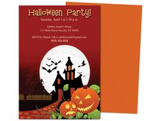 jack o lantern halloween party template