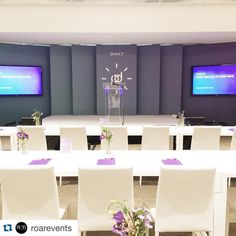 What a great team! ・・・ And we are live! Final look at the stage! The transformation of the United Club is pretty… Corporate Event Design, Event Branding, Event Marketing, Marketing Plan, Business Marketing, Content Marketing, Internet Marketing, Digital Marketing, Concert Stage Design