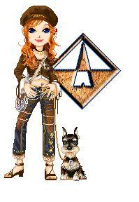 Alfabeto de Dolls paseando al perro. | Oh my Alfabetos!