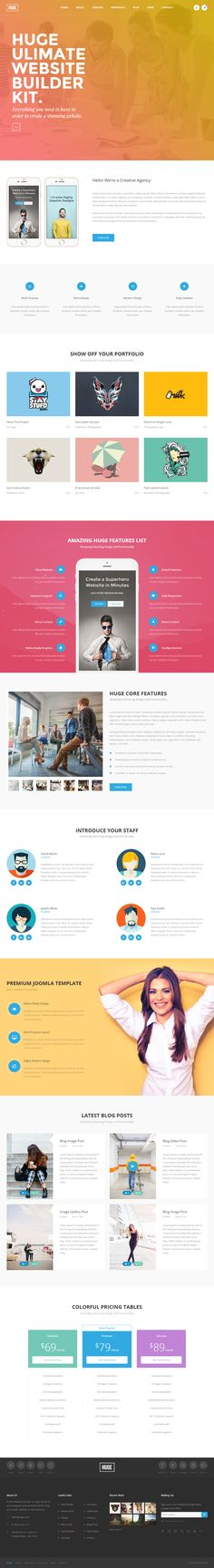 Intensy is Premium full Responsive Retina Parallax #Joomla - free test templates