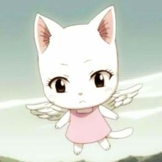 Baby Charle actually looks like a chibi Fairy Tail Carla Fairy Tail, Fairy Tail Cat, Anime Fairy Tail, Fairy Tail Girls, Chibi, Super Manga, Best Anime Shows, Fairy Tail Characters, Great Works Of Art