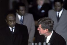 President of Ghana Kwame Nkrumah meeting with US President John F Kennedy to discuss the situation in Africa