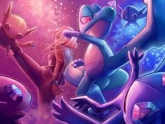 Grovyle and human vs. Sableye<-that is Treeko excuse you, but i get what you mean since he evolves sometime in the story