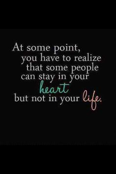 at some point people stay in ur heart but not in ur life ♥~