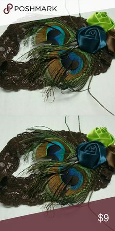 NWTPeacock Headband A beautiful feather headband.  Leighton Alexander Accessories Hair Accessories