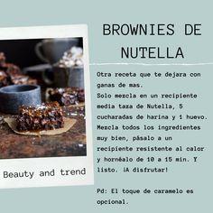 Te traemos algunas recetas rápidas, fáciles y con pocos ingredientes. Te encantaran. Nutella, Few Ingredients, Mugs, Fast Recipes, Beauty