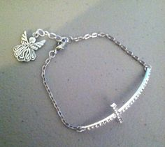 Beautiful Rhinestone Cross Bracelet With Or by PersnicketyPatty, $18.99