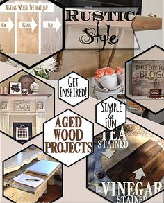 A collection of diy projects and ideas using a rustic style. Here's how I added rustic style to new wood projects. Country Design Style