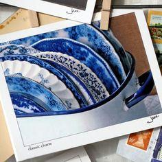 vintage flow blue plates.  love.