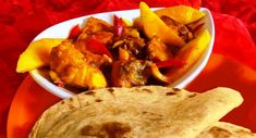 Surinaams eten – Roti Zalm (Sandhia's roti met zalm en mango)