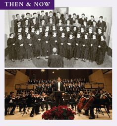 Goshen College, ever signing. The 1947 A Capella Chorus (top) and the 2013 Festival of Carols (bottom) Goshen College, History, Top, Spinning Top, Historia, History Activities, Crop Shirt, Blouses