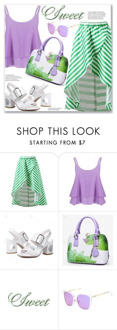 """""""Casual Chic :: Striped High Low Skirt"""" by jecakns ❤ liked on Polyvore"""