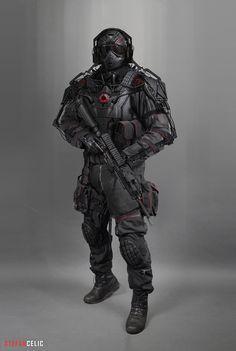 Soldier Concept 2, Stefan Celic on ArtStation at https://www.artstation.com/artwork/mwgAY