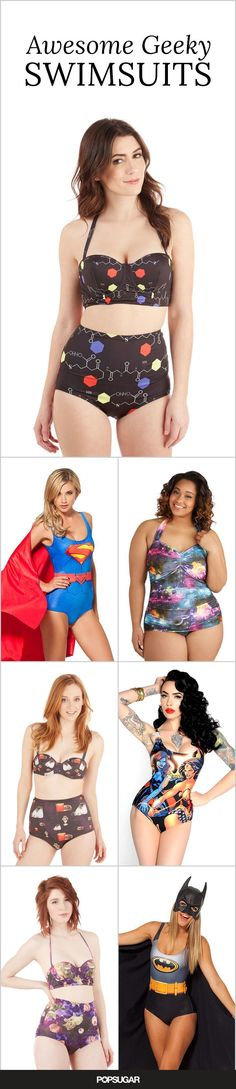For geeky chic swim style you're going to want to check out these cute swimsuits!