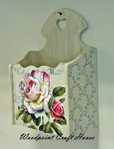 Decoupage Diy Arts And Crafts, Hobbies And Crafts, Home Crafts, Paper Crafts, Diy Crafts, Decoupage Letters, Decoupage Box, Decoupage Vintage, Painted Boxes