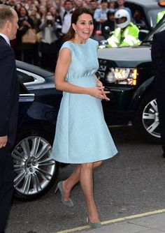 Catherine Middleton in blue