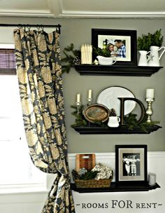 ~rooms FOR rent~: {Dining room} love this setup for next to the curtains