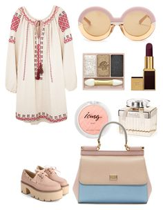 """""""Untitled #172"""" by alexabb ❤ liked on Polyvore featuring Chloé, Dolce&Gabbana, Mes Demoiselles..., Karen Walker, Tom Ford and Paul & Joe Beaute"""