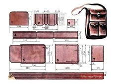 Leather Diy Crafts, Leather Projects, Leather Art, Sewing Leather, Crea Cuir, Leather Tutorial, Leather Working Patterns, Leather Wallet Pattern, Leather Workshop