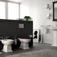 hidra nostalgisches wandstehendes wc ellade mit. Black Bedroom Furniture Sets. Home Design Ideas