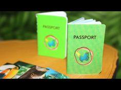 DIY American Girl Doll Passport & National Geographic Magazine - YouTube