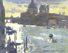 Ken Howard R.A. (British, born 1932) 'Grand Canal, morning'