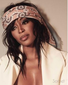 Naomi Campbell Channels Rock Legends For Sorbet Magazine Cover & Shoot