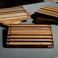 From our May Cutting Board Class - yet another pretty one with those great thin walnut stripes on the side...