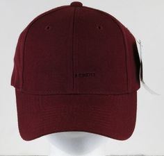 4018bbc1198 Plain Fitted Baseball Cap Hat Burgundy Size 7 1 2 by Sluggers Only New