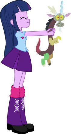 Twilight and plush Discord by KateQuantum on DeviantArt Princess Twilight Sparkle, Princess Luna, Friendship Games, My Little Pony Friendship, Fluttershy, Discord, Rainbow Rocks, Little Poni, Mlp Pony