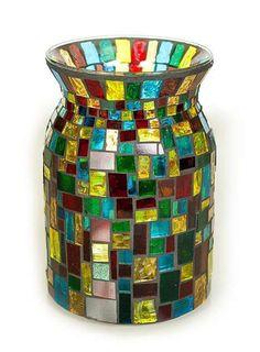 Everything related to Mosaic Art Mosaic Vase, Mosaic Flower Pots, Mosaic Diy, Mosaic Crafts, Mosaic Projects, Flower Vases, Mosaic Tiles, Bottle Painting, Bottle Art