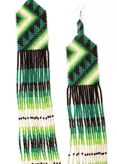 Brick Stitch Earrings, Seed Bead Earrings, Fringe Earrings, Beaded Earrings, Seed Beads, Bead Loom Designs, Long Fringes, Diy Crafts Jewelry, Loom Beading