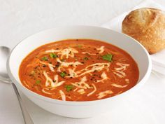 Get this all-star, easy-to-follow Roasted Red-Pepper Soup recipe from Food Network Kitchen
