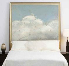 Lakehouse Outfitters Blog: Creative Headboard Solution - ART!