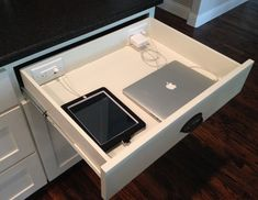 Image result for diy laptop drawer charging station