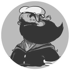 Bearded Popeye or a young Poopdeck Pappy...