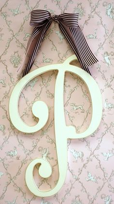 Initials+for+Walls | Large Wooden Cursive Wall Letter for initial or monogram in girl's ...