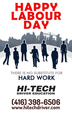 Team Hi-Tech #DrivingSchoolNorthYork wish you all a very very #HappyLaborDay ..!!  #DrivingSchool  #DrivingSchoolToronto